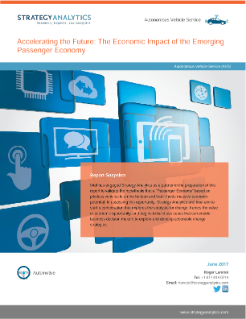 Accelerating the Future: The Economic Impact of the Emerging Passenger Economy Report
