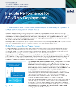 Flexible Performance for 5G vRAN Deployments