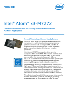 Intel® Atom™ x3-M7272 Processor for Wireless Communications