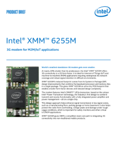 Intel® XMM™ 6255M Modem Delivers Robust 3G Connectivity