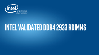 DDR4 2933 RDIMMS Validation Results