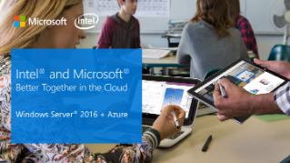 Intel and Microsoft Better Together in the Cloud Windows Server* presentation