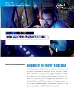 6th Generation Intel® Core™ i7-6700K and i5-6600K Processors