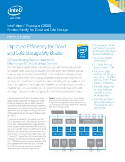 Intel® Atom™ Processor C2000 for Cloud and Cold Storage: Brief