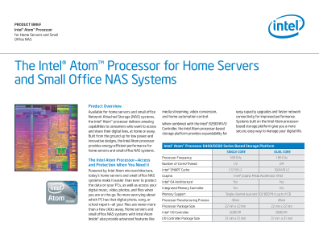 Intel Atom® Processor for Home Servers and Small Office NAS Systems