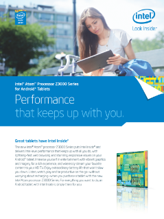 Intel® Atom™ Processor Z3000 Series for Android* Tablets Brief