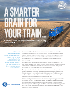 Connected Transportation: A Smarter Brain for Your Train