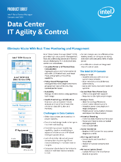 Product Brief: Intel® Data Center Manager