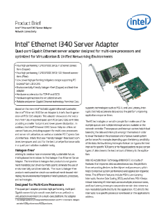 Intel® Ethernet Server Adapter I340 Product Brief