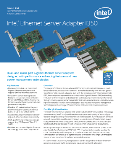 INTELR ETHERNET SERVER ADAPTER I350-T4 WINDOWS 10 DOWNLOAD DRIVER