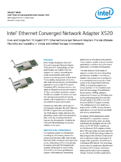 Intel® Ethernet Converged Network Adapter X520 (Intel® Ethernet CNA X520) Product Brief V005