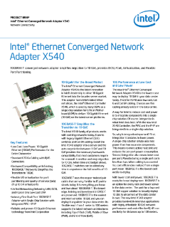 Intel® Ethernet Converged Network Adapter X540 Product Brief