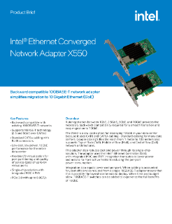Intel® Ethernet Converged Network Adapter X550 Product Brief