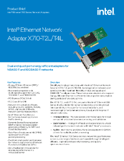 Intel® Ethernet Network Adapter X710-T2L and X710-T4L Brief