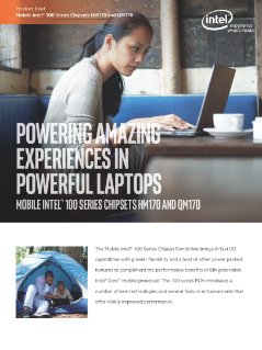 Product Brief: Mobile Intel® 100 Series Chipsets HM170 and QM170