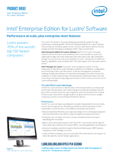 Intel® Enterprise Edition for Lustre* Software - Product Brief