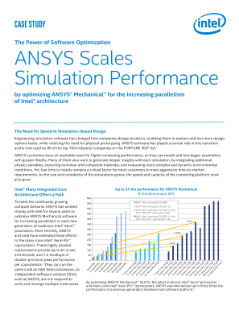 Case Study: ANSYS Mechanical* Scales Simulation Performance