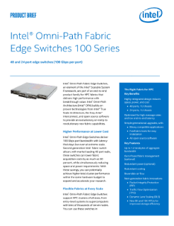 Intel® Omni-Path Fabric Edge Switches 100 Series Product Brief