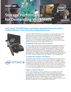 Intel Optane™ SSD 900P Series Product Brief