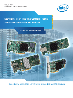 Intel® RAID Controller RS3 Deliver Higher Storage Performance