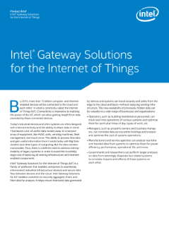 Intel® IoT Gateway Product Brief