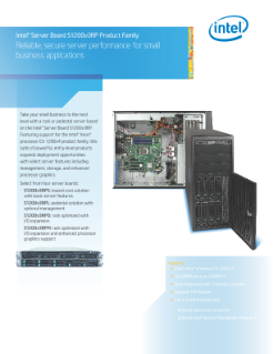 Intel® Server Board is Optimized for Business Performance