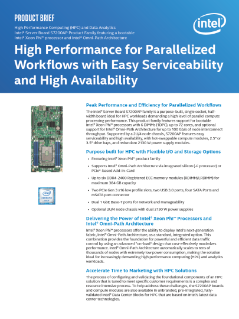 Peak Performance and Efficiency for Parallelized Workflows