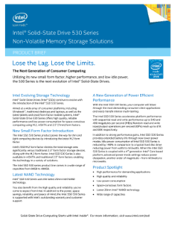 Intel® SSD 530 Series Shrinks Total Storage Area