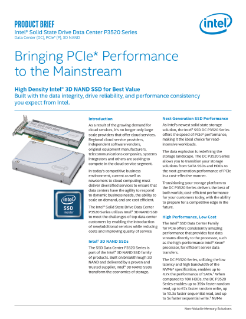 Intel® SSD DC P3520 Series Product Brief