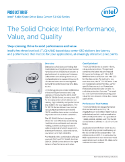 Intel® SSD DC S3100 Series Product Brief