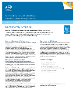 Intel® SSD DC S3500 Series Product Brief