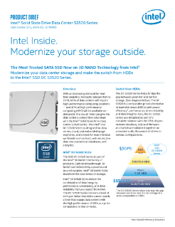 Intel® SSD DC S3520 Series Product Brief