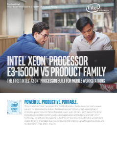 Intel® Xeon® Processor E3-1500M v5 Product Family Brief