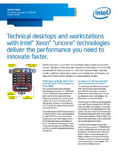 Intel® Xeon® Processor E5 Workstations Versus Intel® Core™: Brief