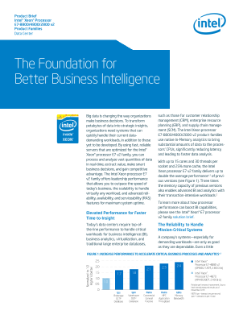 Intel® Xeon® Processor E7 v2 Family Product Brief