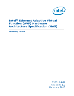 Spec: Intel® Ethernet Adaptive Virtual Function (Intel® Ethernet AVF)