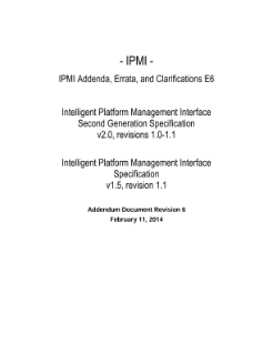 Intelligent Platform Management Interface Spec, Addendum, Rev. 6