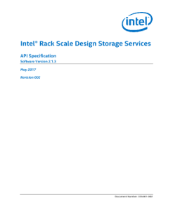 Storage API Specification