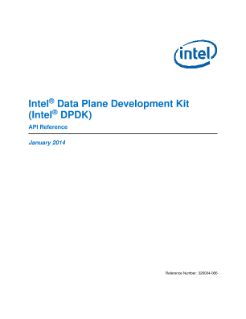 Intel® Data Plane Development Kit: API Reference