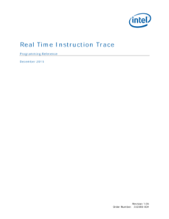 Real-Time Instruction Trace Programming Reference Guide