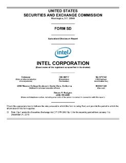 Intel Corporation - SEC Filing