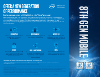 8th Generation Intel® Core™ Processors Sales Guide