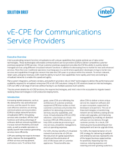 Solution Brief: vE-CPE for Communications Service Providers