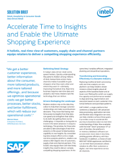 Accelerate Time to Insights and Enable the Ultimate Shopping Experience