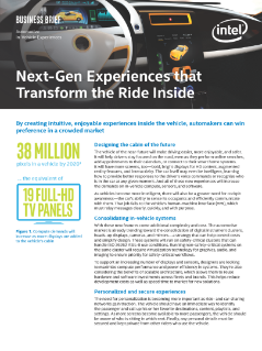 Next-Gen Experiences for Tomorrow's Autonomous Cars