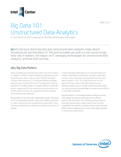 Big Data 101: Unstructured Data Analytics
