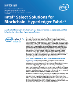 Intel Select Solutions for Blockchain: Hyperledger Fabric v2