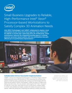Intel and BOXX Solution Satisfies Caffelli's 3D Animation Needs