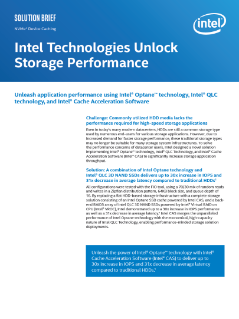 Unlock Storage Performance with Intel® Optane™ Technology
