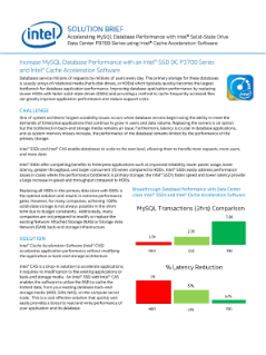 Improve MySQL Database Performance with Intel® CAS